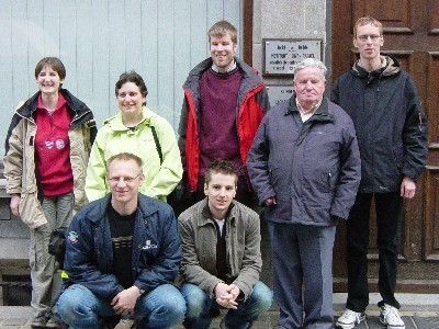 Group photo of the BlindSurfer team in April 2006